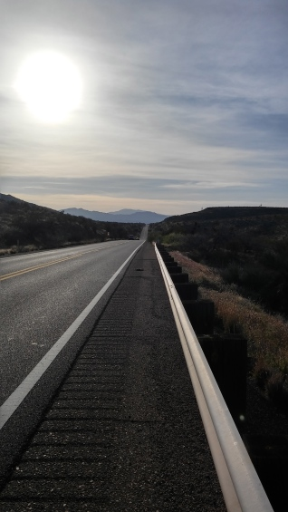 Highway-70 going through the APache Reservation.